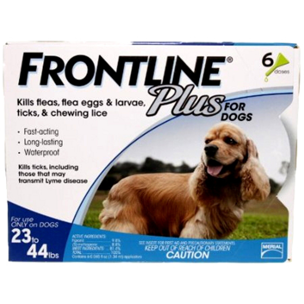 Frontline Plus for Dogs 23-44 lbs (10.1-20 kg) - Blue 6 Doses