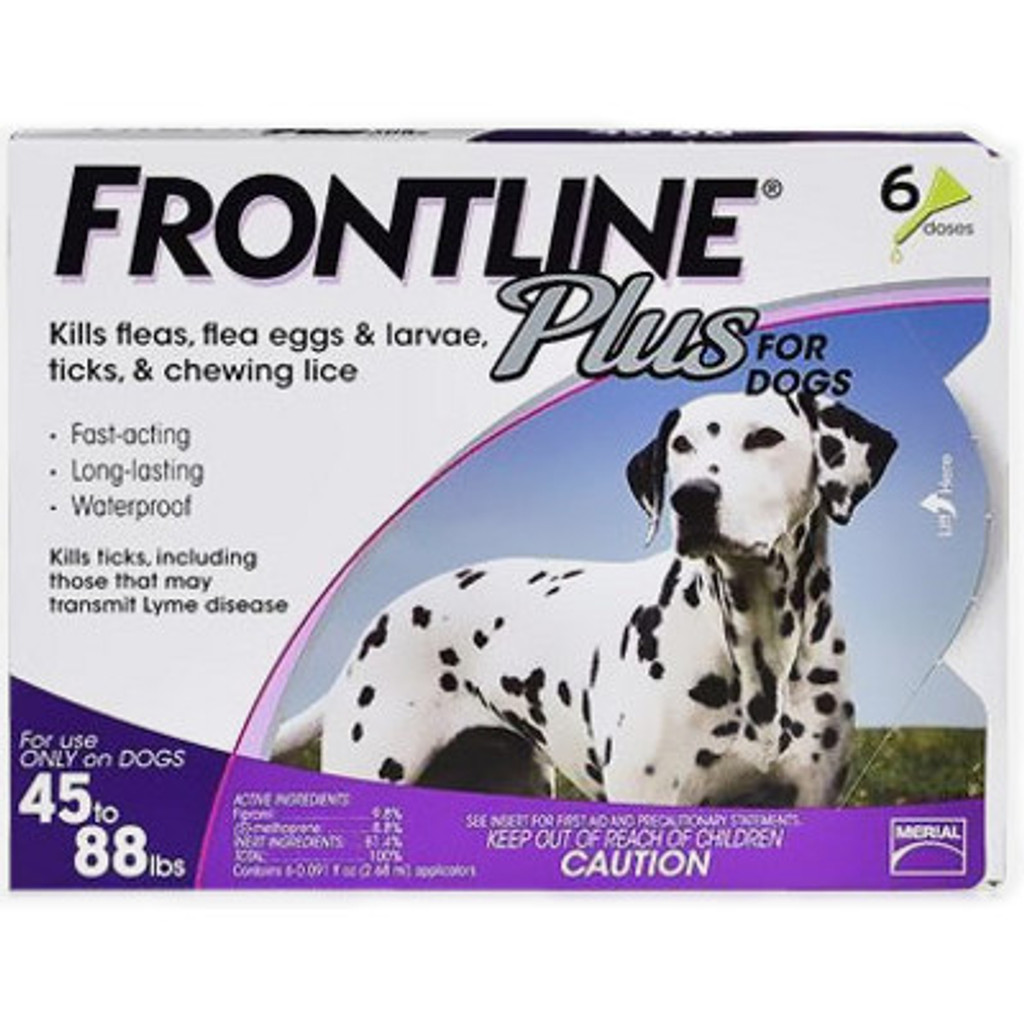 Frontline Plus for Dogs 45-88 lbs (20.1-40 kg) - Purple 6 Doses