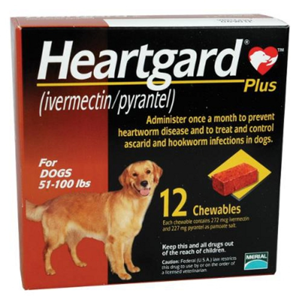 Heartgard Plus Chewables for Dogs 51-100 lbs (23-45 kg) - Brown 12 Chews
