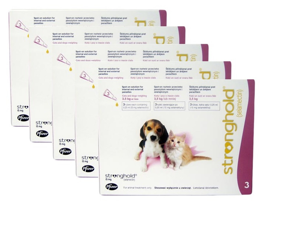 Stronghold for Puppies & Kittens up to 5 lbs (up to 2.5 kg) - Mauve 15 Doses