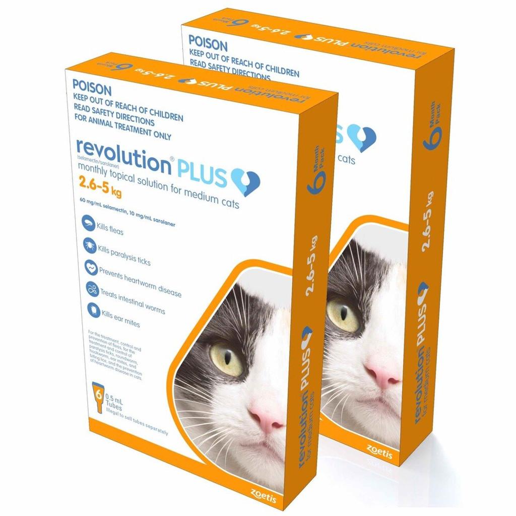 Revolution PLUS for Medium Cats 5.6-11 lbs (2.5-5 kg) - Orange 12 Doses
