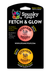 """Spunky Pup Fetch And Glow In The Dark Ball 2 Pack Small Toy for Dogs 5cm (1.96"""")"""