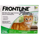 Frontline Plus for Cats Green 3 Doses (08/2021 Expiry)