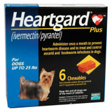 Heartgard Plus Chewables for Dogs up to 25 lbs (up to 11 kg) - Blue 6 Chews (03/2022 Expiry)