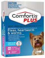 Comfortis PLUS Comprimidos para perros de 2,3-4,5 kg (5-10 lbs) - Rosa 6 Comprimidos