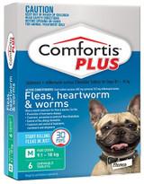 Comfortis PLUS Comprimidos para perros de 9-18 kg (20,1-40 lbs) - Verde 6 Comprimidos