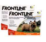 Frontline Plus for Dogs up to 22 lbs (up to 10 kg) - Orange 12 Doses (09/2022 Expiry)