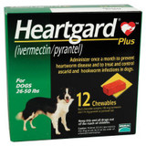 Heartgard Plus Chewables for Dogs 26-50 lbs (12-22 kg) - Green 12 Chews (02/2022 Expiry)