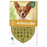 Image of Front of Box for Advocate for Dogs under 9 lbs (under 4 kg) - Green 3 Doses