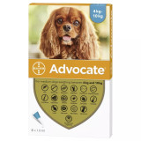 Image of Front of Box for Advocate for Dogs 9-20 lbs (4.1-10 kg) - Aqua 6 Doses