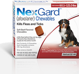Nexgard Chews for Dogs 60.1-121 lbs (25.1-50 kg) - Red 3 Chews