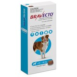 Bravecto Flea and Tick Chew for Dogs 44-88 lbs (20-40 kg) - Blue 1 Chew