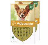 Image of Front of Box for Advocate for Dogs under 9 lbs (under 4 kg) - Green 6 Doses