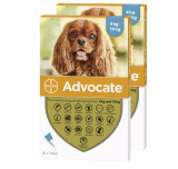 Image of Front of Box for Advocate for Dogs 9-20 lbs (4.1-10 kg) - Aqua 12 Doses
