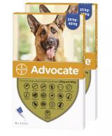 Bild av Front of Box for Advocate for Dogs över 25 kg - Blå 12 doser