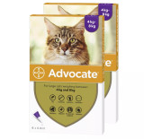 Image of Front of Box for Advocate for Cats over 9 lbs (over 4 kg) - Purple 12 Doses