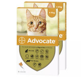 Image of Front of Box for Advocate for Cats under 9 lbs (under 4 kg) - Orange 12 Doses