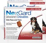 Nexgard Chews for Dogs 60.1-121 lbs (25.1-50 kg) - Red 12 Chews