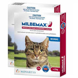 Milbemax Allwormer Tablets for Cats 4.4-17.6 lbs (up to 8 kg) - 4 Tablets