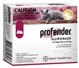 Profender Allwormer för katter 11,1-17,5 lbs (5-8 kg) - Röda 4 doser