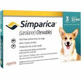 Simparica Chews for Dogs 22-44 lbs (10.1-20 kg) - Blue 3 Chews + 1 Bonus Chew (4 Total)