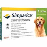 Simparica Chews for Dogs 44-88 lbs (20.1-40 kg) - Green 3 Chews + 1 Bonus Chew (4 Total)