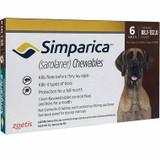 Simparica Chews pour chiens de 40 à 60 kg (88-132 lbs) - Red 6 Chews + 2 Bonus Chews (8 Total)