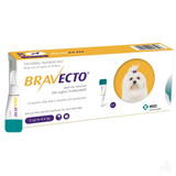 Bravecto Topical Solution for Dogs 4.4-9.9 lbs (2-4.5 kg) - Yellow 1 Dose