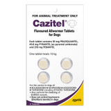 Cazitel Flavored Allwormer Tablets for Dogs up to 22 lbs (up to 10 kg) -  4 Tablets