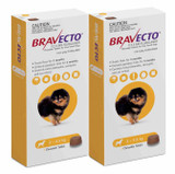 Bravecto Flea and Tick Chew for Dogs 4.4-9.9 lbs (2-4.5 kg) - Yellow 2 Chews
