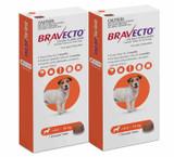Bravecto Flea and Tick Chew for Dogs 9.9-22 lbs (4.5-10 kg) - Orange 2 Chews