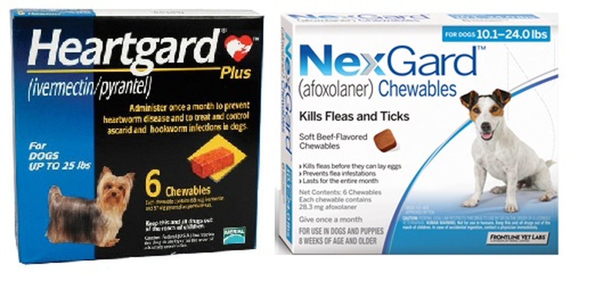 Nexgard And Heartgard Combo For Dogs 10 1 24 Lbs Up To 10 Kg 6 Month Bundle Sierra Pet Meds