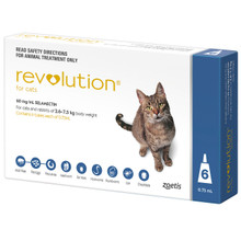 Revolution for Cats 5.1-15 lbs (2.6-7.5 kg) - Blue 6 Doses with 1 Extra Dose