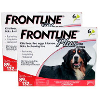 Frontline Plus for Dogs 89-132 lbs (40.1-60 kg) - Red 12 Doses