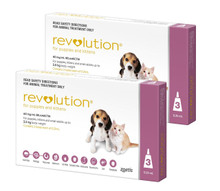 Revolution for Puppies & Kittens up to 5 lbs - 6 Pack + 2 Extra Doses Free (8 Total)