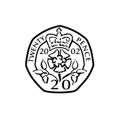 XStamper UK Currency 20p twenty pence - Self inking teacher reward xstamper xclamations stamp