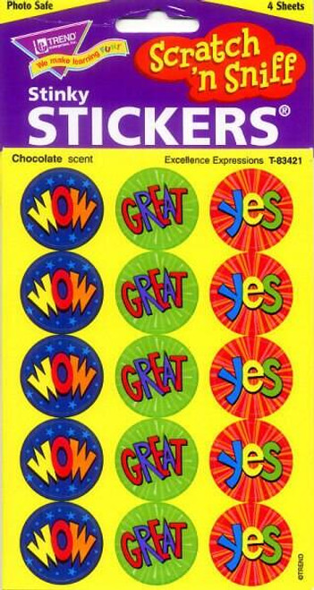 Trend Enterprises Inc 60 Excellence Expressions Chocolate Scratch n Sniff Stickers