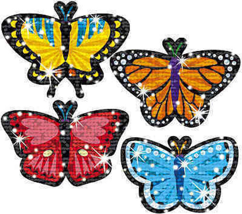 Trend Enterprises Inc TREND Butterfly Brights Reward Sparkle Stickers