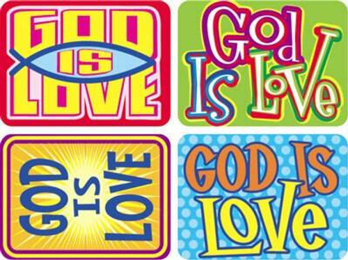 Trend Enterprises Inc 100 Large God is Love Applause Christian reward stickers