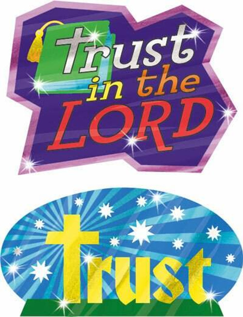 Trend Enterprises Inc Trust God 32 Christian Foil Bright Stickers