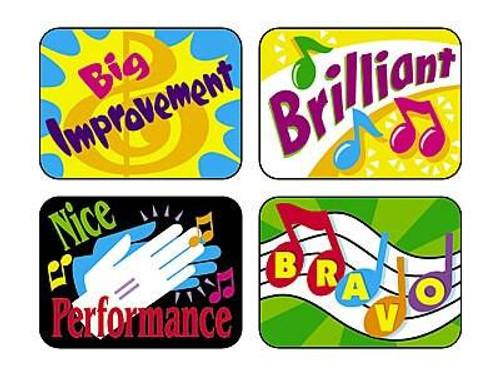 Trend Enterprises Inc 100 Large TREND Music Rewards Applause reward stickers