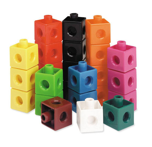 Learning Resources Learning Resources - 100 Connecting Unifix Plastic Snap Cubes