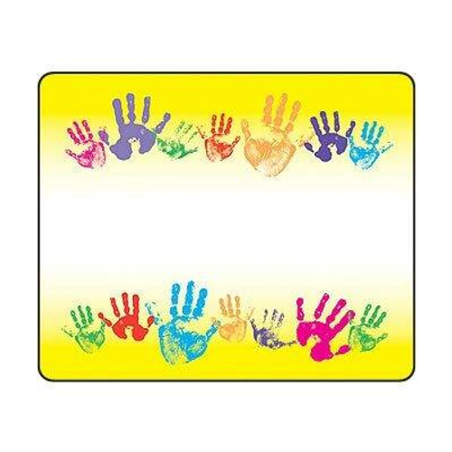 Trend Enterprises Inc 36 TREND Rainbow Handprints Name Tag Sticker Labels