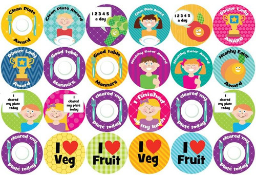 Sticker Stocker 144 Lunch Time Awards 30mm Childrens Reward Stickers for Teachers or Parents