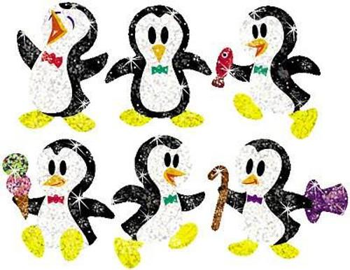 Trend Enterprises Inc 72 Proud Penguins Sparkle Reward Stickers