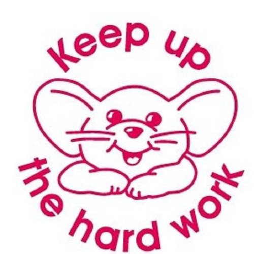 XStamper Keep up the hard work - Self inking teacher reward xstamper xclamations stamp