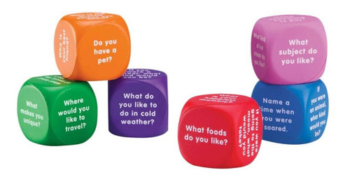 Learning Resources Learning Resources - Soft Foam Conversation Cubes set of 6