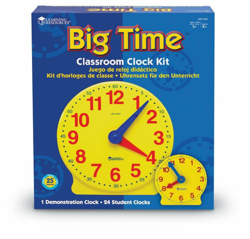 Learning Resources Big Time Classroom Clock Kit by Learning Resources