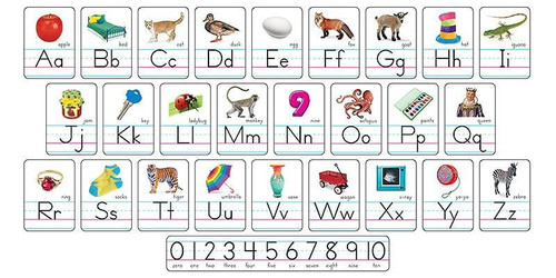 Trend Enterprises Inc Photo Alphabet Card ABC Line Classroom Display Board Set