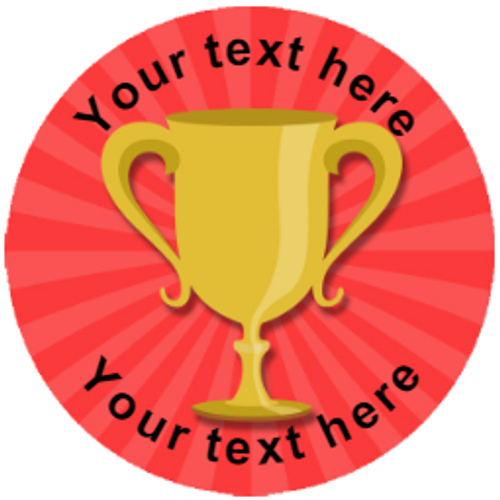 Sticker Stocker 144 Trophy Personalised 30 mm Reward Stickers for School Teachers, Parents and Nursery